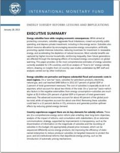 IMF Energy Subsidy